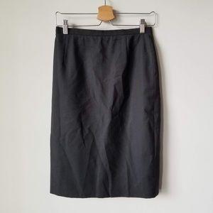 Burberry's Vintage Gray 100% Wool Skirt